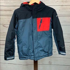 Columbia Omni-Shield Black Gray & Red Snow Jacket